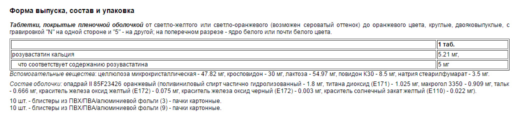Форма выпуск и состав медпрепарата Тевастор