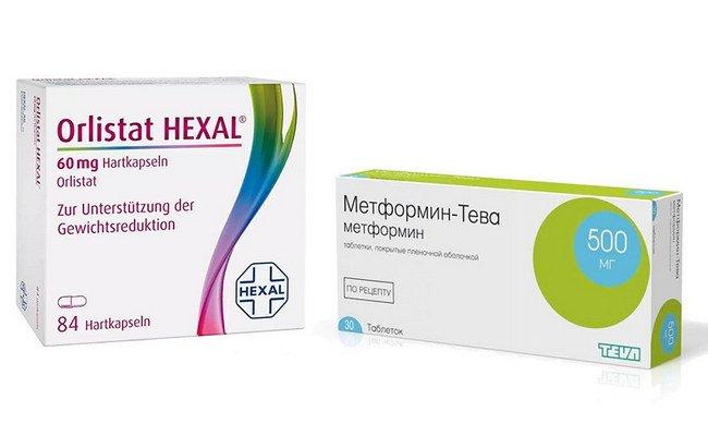 Препараты Орлистат и Метформин применяемые в терапии висцерального ожирения