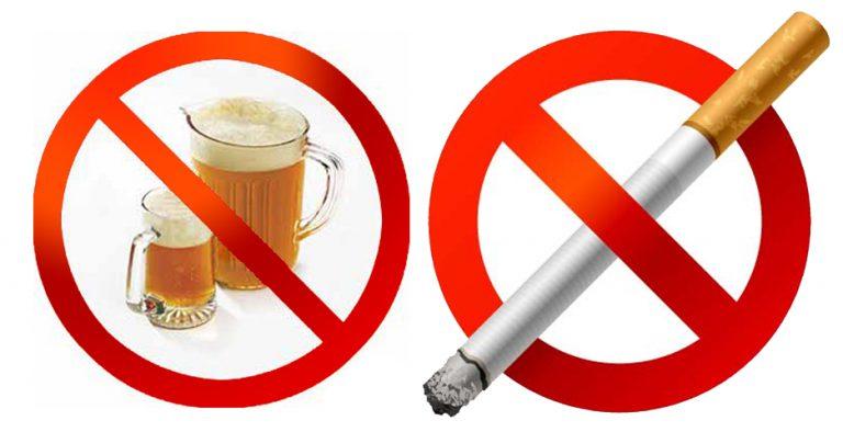Отказаться от курения и алкоголизма