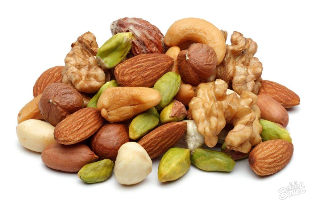Все сорта орехов также содержат данные кислоты, которые входят в класс кислотного комплекса Омега-6.